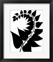 Framed Leaf Silhouette IV