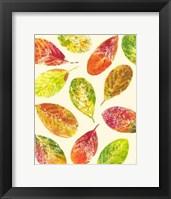 Framed Vibrant Leaves I