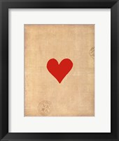 Framed Small Heart