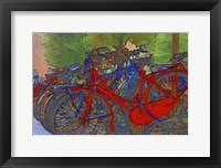 Framed Colorful Bicycles II