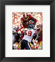 Framed Clinton Portis 2010 Action