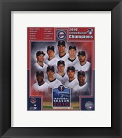 Framed Minnesota Twins 2010 AL Central Champions Composite