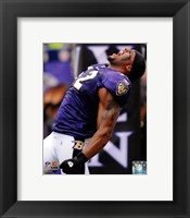 Framed Ray Lewis 2010 Action