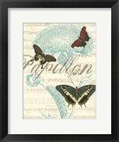 Papillon Melange IV Framed Print