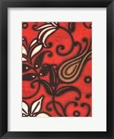 Framed Scarlet Textile I