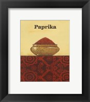 Exotic Spices - Paprika Framed Print