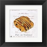 Pain au Chocolat Framed Print