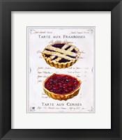 Framed Tartes aux Cerises et Framboises