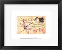 Framed Postcard Dragonfly II