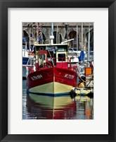 Framed Antibes Harbor I