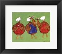 Framed Chef Hens I