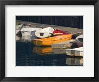 Framed Row Boats I