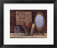 Country Bath Framed Print