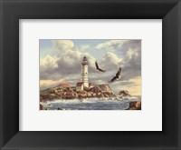 Framed Boston Lighthouse