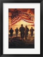 Framed Bless America's Heroes