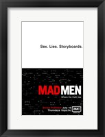 Framed Mad Men - Sex. Lives. Storyboards.