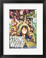 Framed One Piece Film: Strong World - characters posed