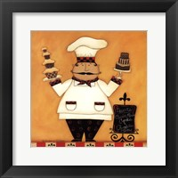 Framed Chef with Desserts