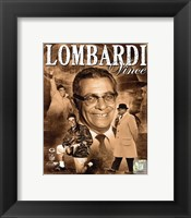 Framed Vince Lombardi 2010 Portrait Plus
