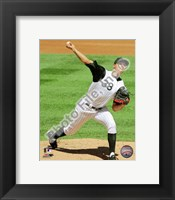 Framed Ubaldo Jimenez 2010 pitching