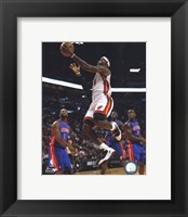 Framed LeBron James 2010-11 Action