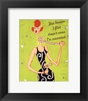 I Flirt Framed Print