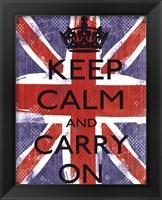 Framed Keep Calm And Carry On 1