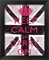 Framed Keep Calm And Carry On 3