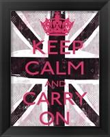 Keep Calm And Carry On 3 Framed Print