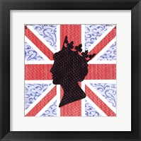 Union Jack Queen Framed Print