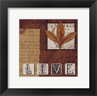 Nature's Journal - Live Framed Print
