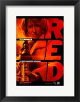 Red Helen Mirren Framed Print