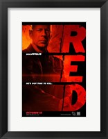 Red Bruce Willis Framed Print