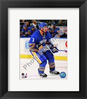 Framed Jordan Leopold 2010-11 Action