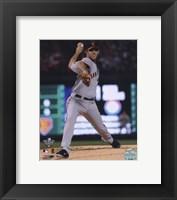 Framed Madison Bumgarner Game Four of the 2010 World Series Action