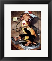 DJ Love Framed Print