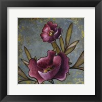 Framed Purple Poppies