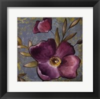 Purple Poppies II Framed Print