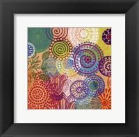Circle Flowers I Framed Print