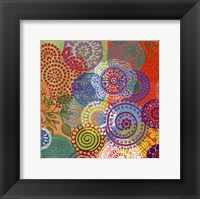 Circle Flowers III Framed Print