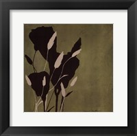 Fleur'ting Silhouettes Framed Print