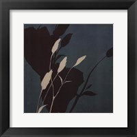 Fleur'ting Silhouettes - blue Framed Print