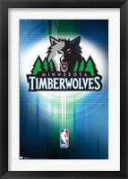 Framed Timberwolves - Logo 10
