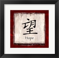 Hope - red border Framed Print