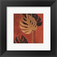 My Fashion Leaves on Red I Framed Print