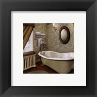 Framed Green Farmhouse Bath I