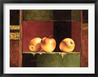 Apples, Deco II Framed Print