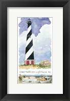 Framed Cape Hatteras Lighthouse