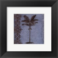 Palm on Blue I Framed Print
