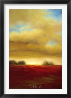 Framed Red Prairie